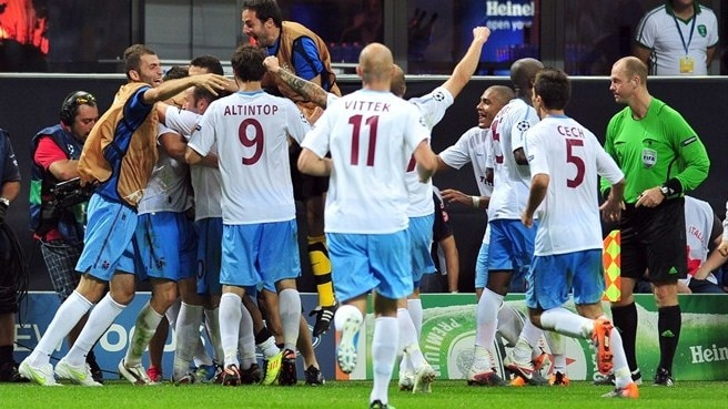 Trabzonspor bate Inter ao cair do pano