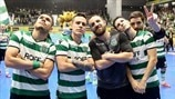 Sporting com Inter, Barcelona e Győr na fase final